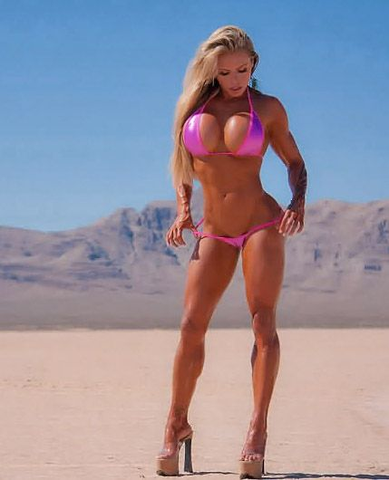 image Hard bodied hottie m gets in a proper workout