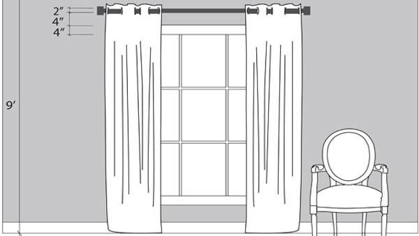 how to hang curtains properly hanging