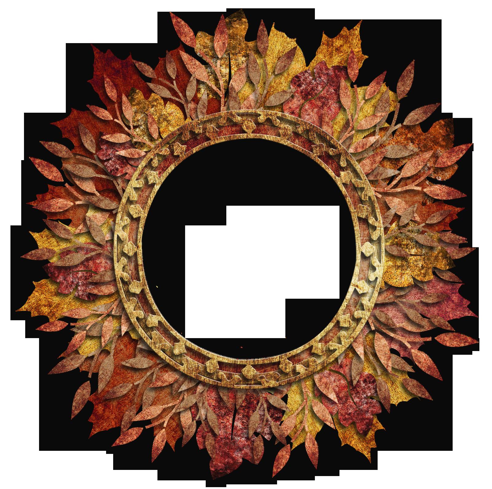 oval otoñal | Frames - Fall | Frame, Boarders, frames ...