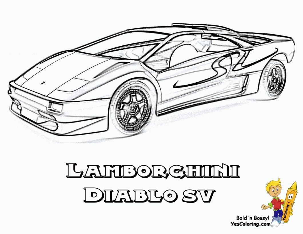 Lamborghini Diablo Coloring Pages Printable Lamborghini Diablo Print Buttons Coloring Pages