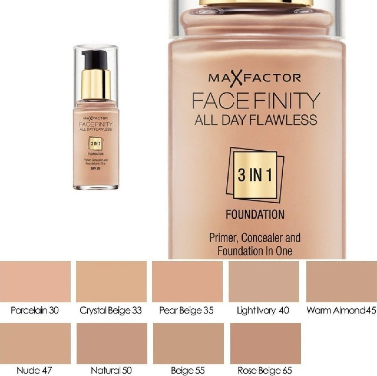 Max Factor FaceFinity All Day Flawless 3-In-1 Primer & Concealer ...