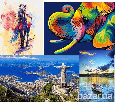 Представлен огромный ассортимент яркий, красочных картин ...