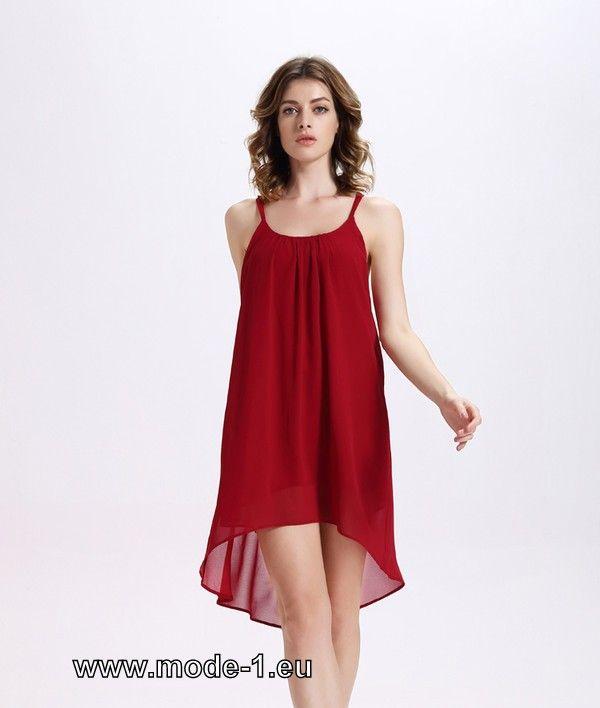 Kurzes Sommerkleid in Rot mit Sexy Rücken Ausschnitt ...
