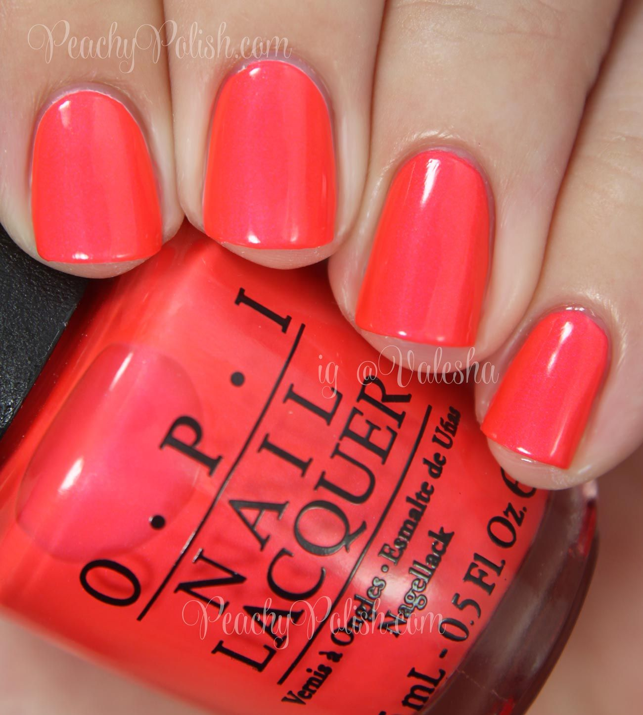 Opi Summer 2014 Neon Collection Swatches Review Neon Coral