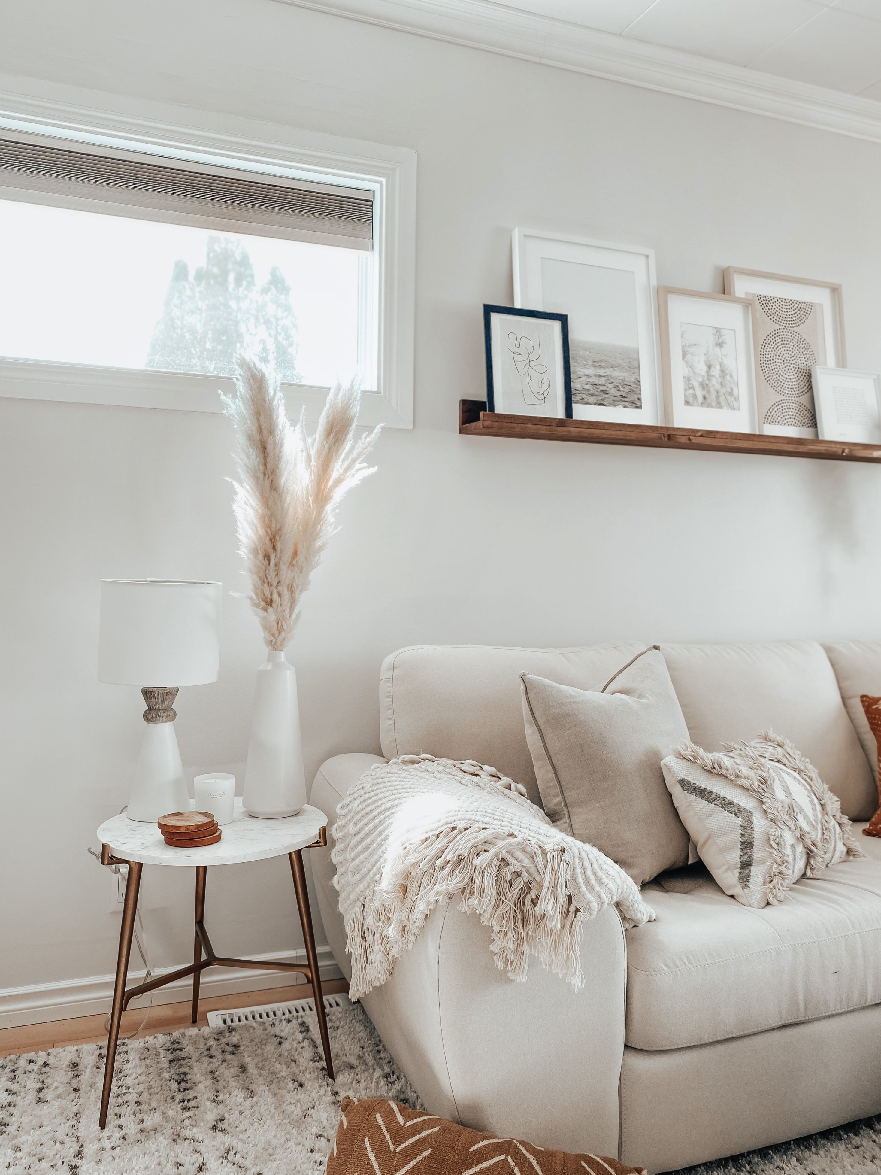 Cozy Neutral Living Room Cream Couch Living Room Cream Sofa Living Room Living Room Decor Neutral