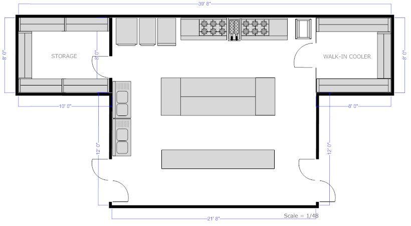 Restaurant kitchen floor plan Thesis Pinterest Restaurant - floor plan template