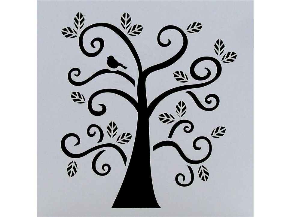 tree branch stencils for walls hobbies fabric crafts stenciling stencils curly. Black Bedroom Furniture Sets. Home Design Ideas