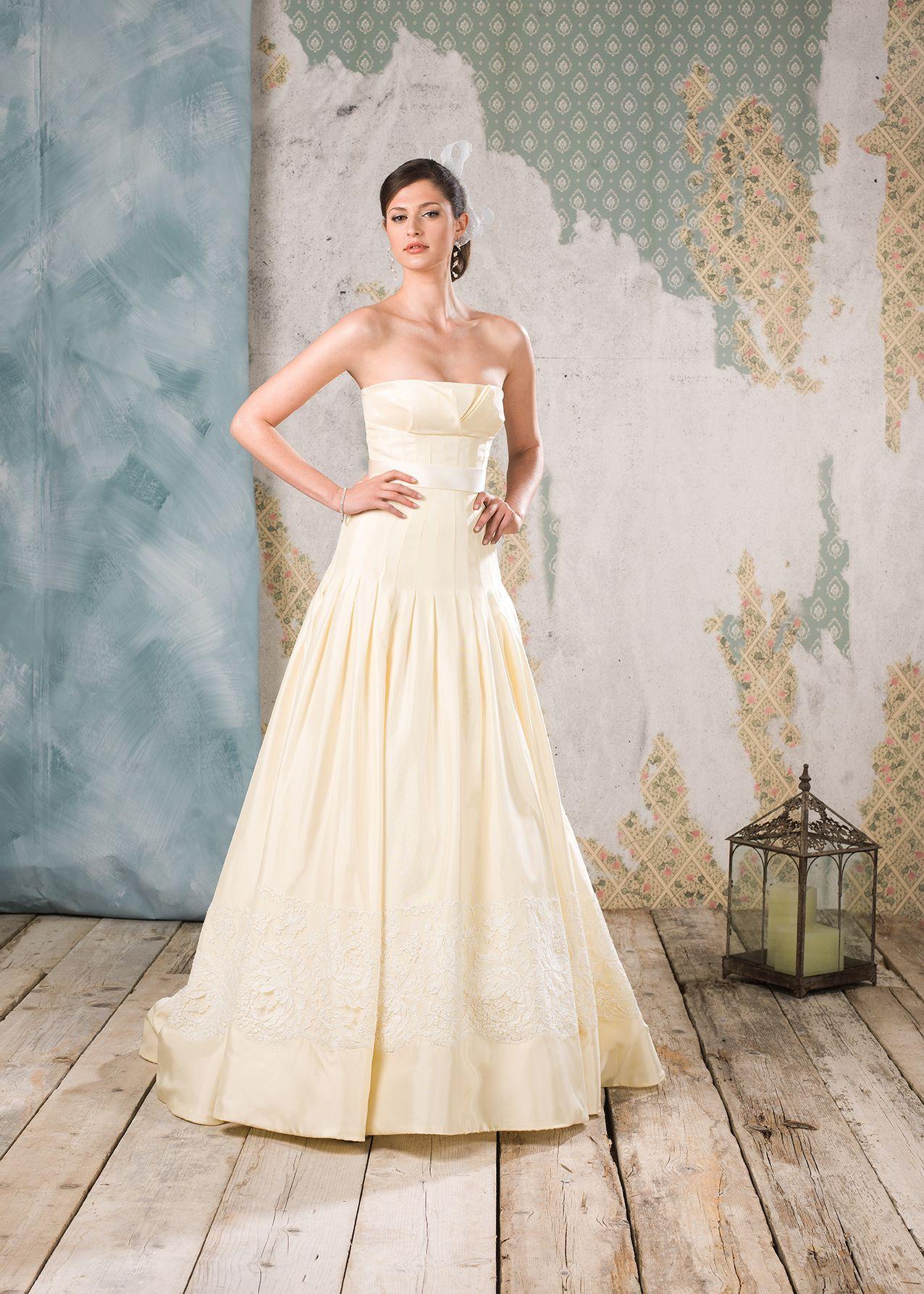 Abito da sposa Delsa, linea Couture 2016 Codice D6804 Raso duchesse ...