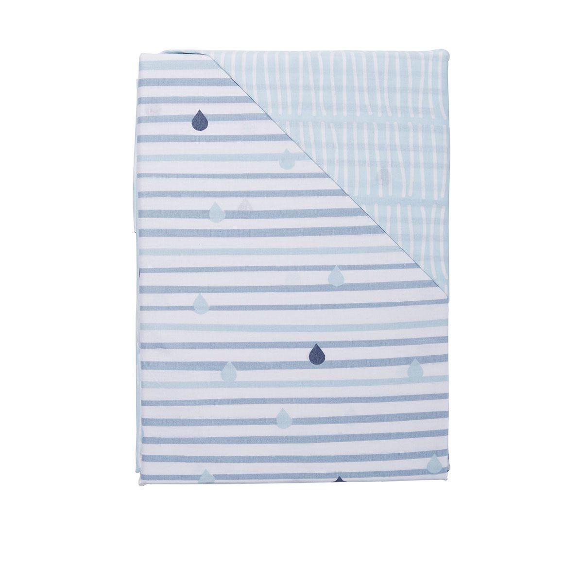 3 piece cotton cot sheet set raindrop kmart baby