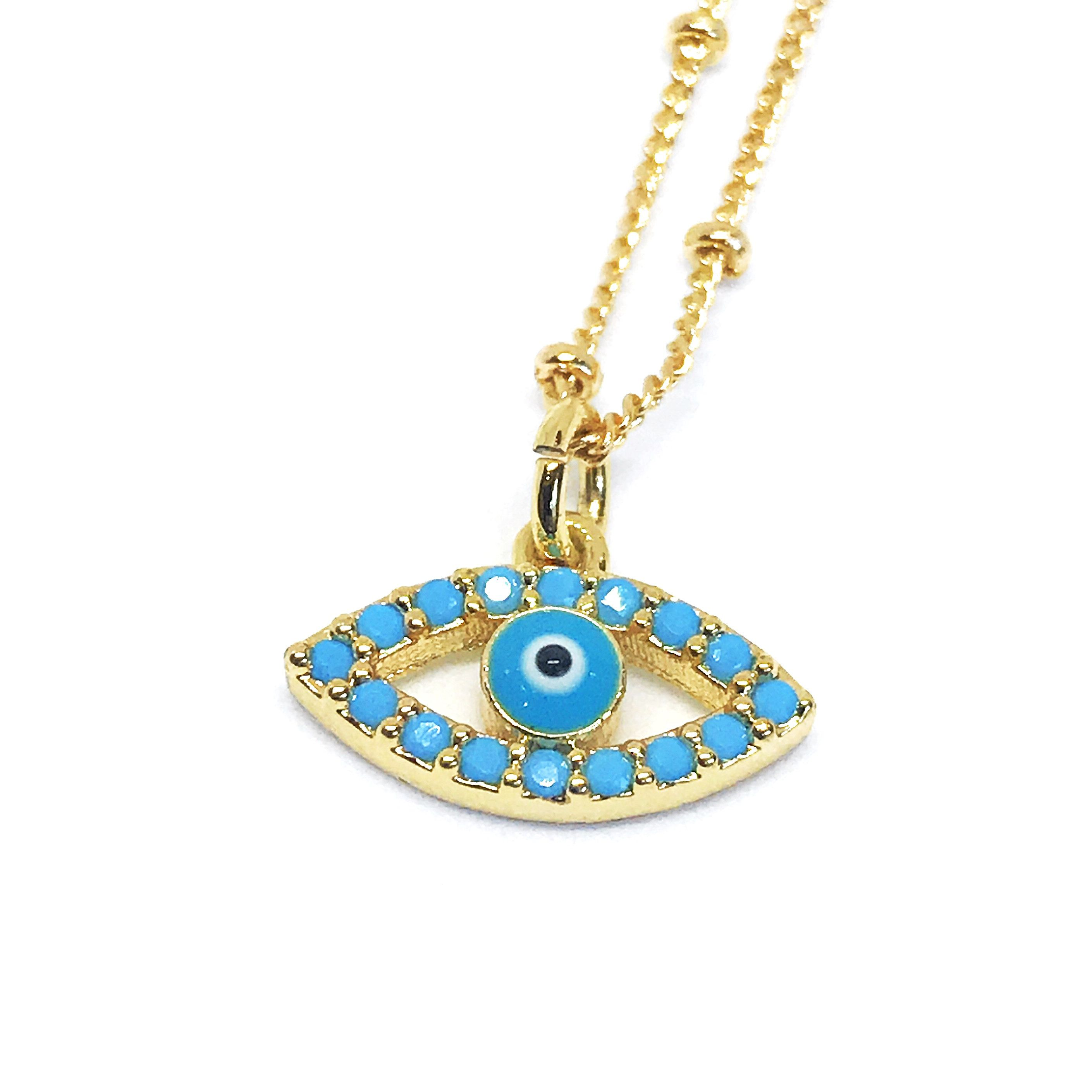 Evil eye jewelry evil eye charm evil eye necklace gold dainty excited to share the latest addition to my etsy shop evil eye jewelry aloadofball Choice Image
