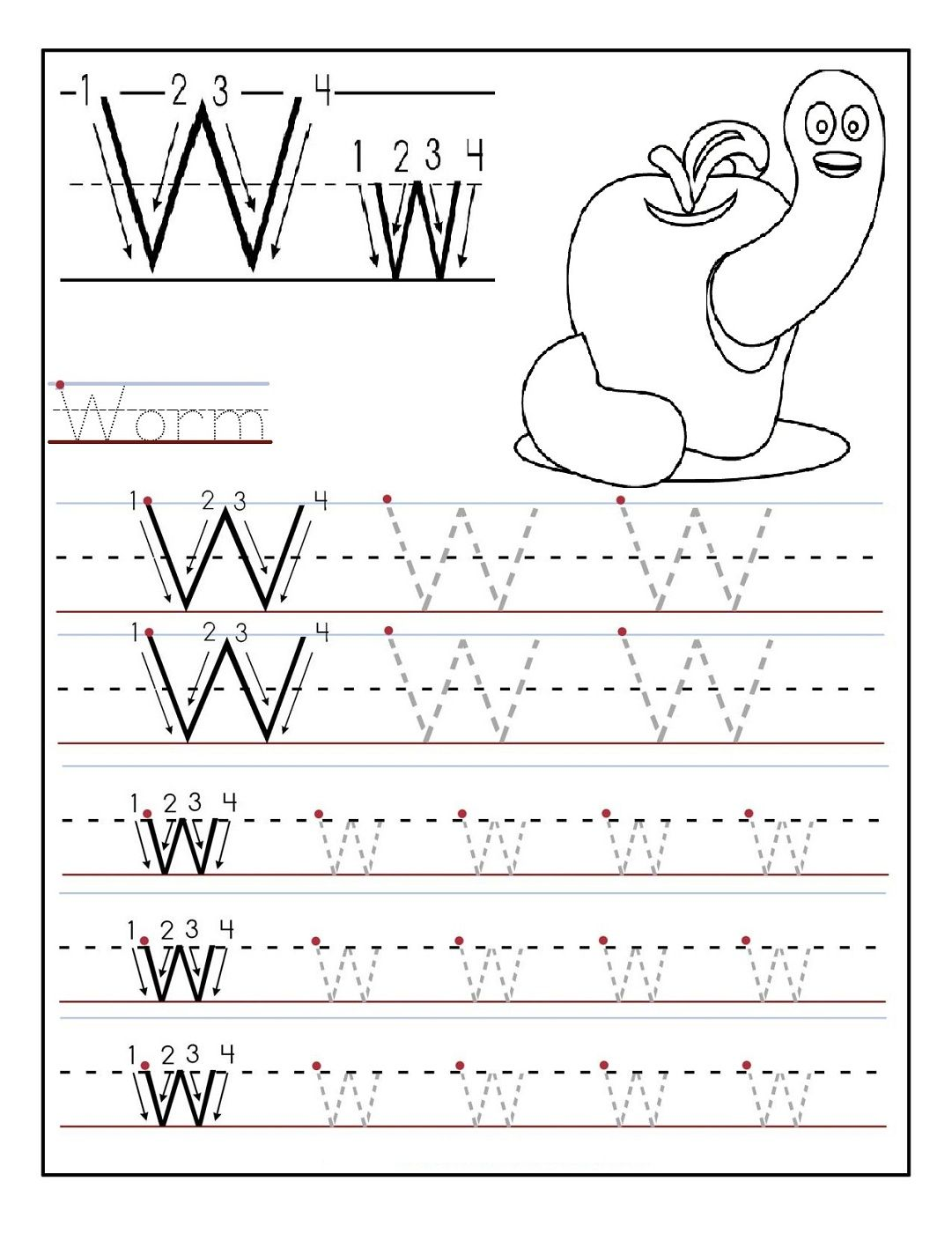 Kindergarten Alphabet Worksheets Printable | Activity Shelter | Kids ...