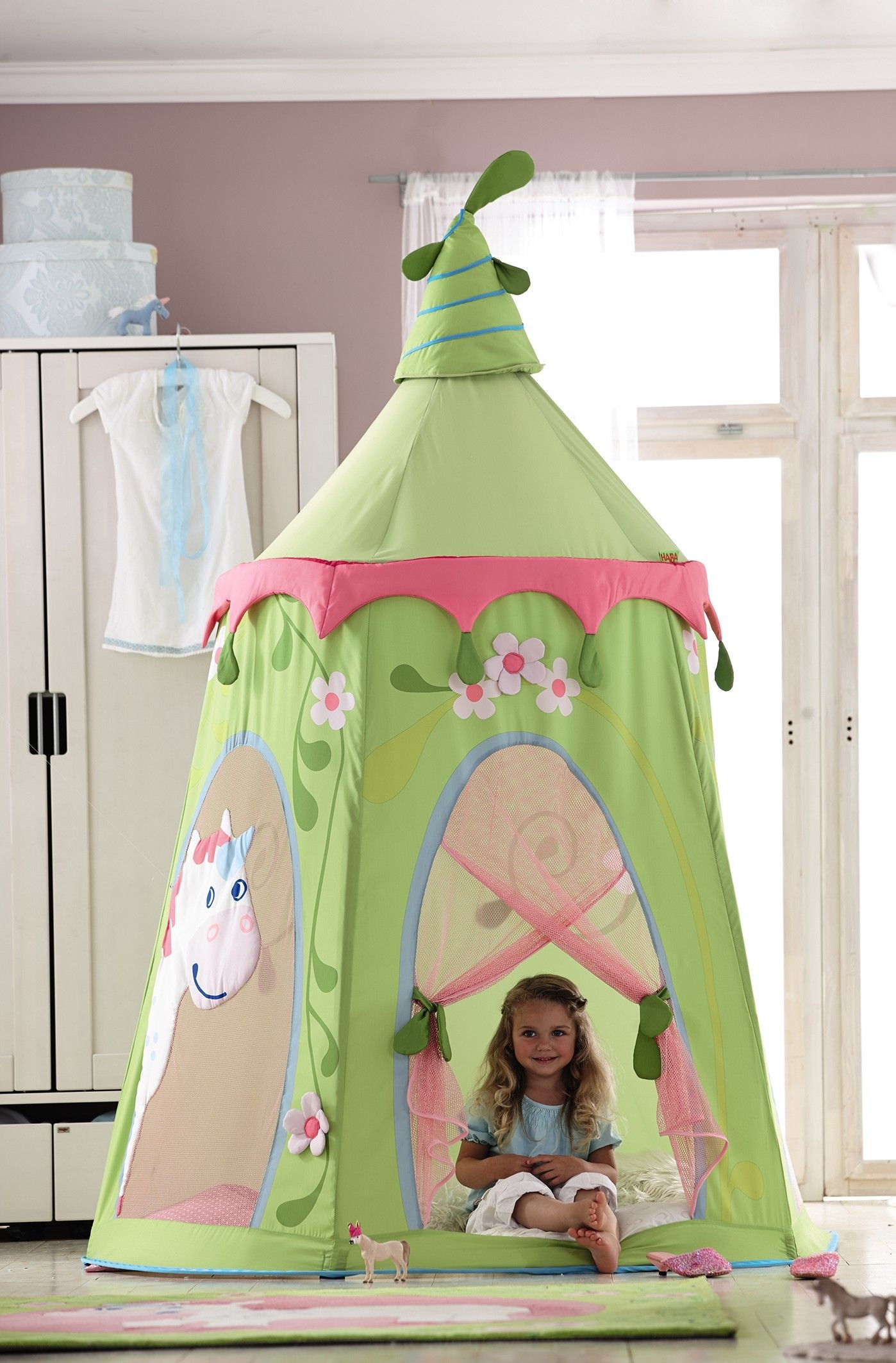 HABAu0027s Fairy Garden Play Tent is a great indoor free standing tent that you little one will love to use as a fort and play in for hours.  sc 1 st  Pinterest & Fairy Garden Play Tent - Free Standing Indoor | HABA USA | Indoor ...