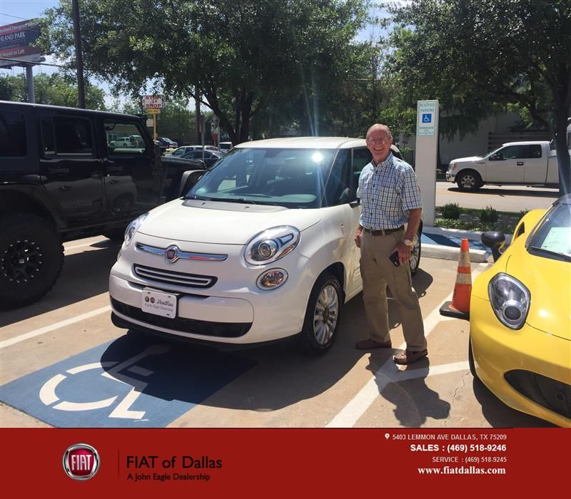 I needed a car I could flat tow behind a motor home. Donald and his coworkers made this happen. Donald was of great help very courteous and a pleasure to work with. The whole dealership was also a pleasure to work with. -Al Tornquist, Thursday 6/16/2016 http://www.fiatofdallas.com/?utm_source=Flickr&utm_medium=DMaxxPhoto&utm_campaign=DeliveryMaxx