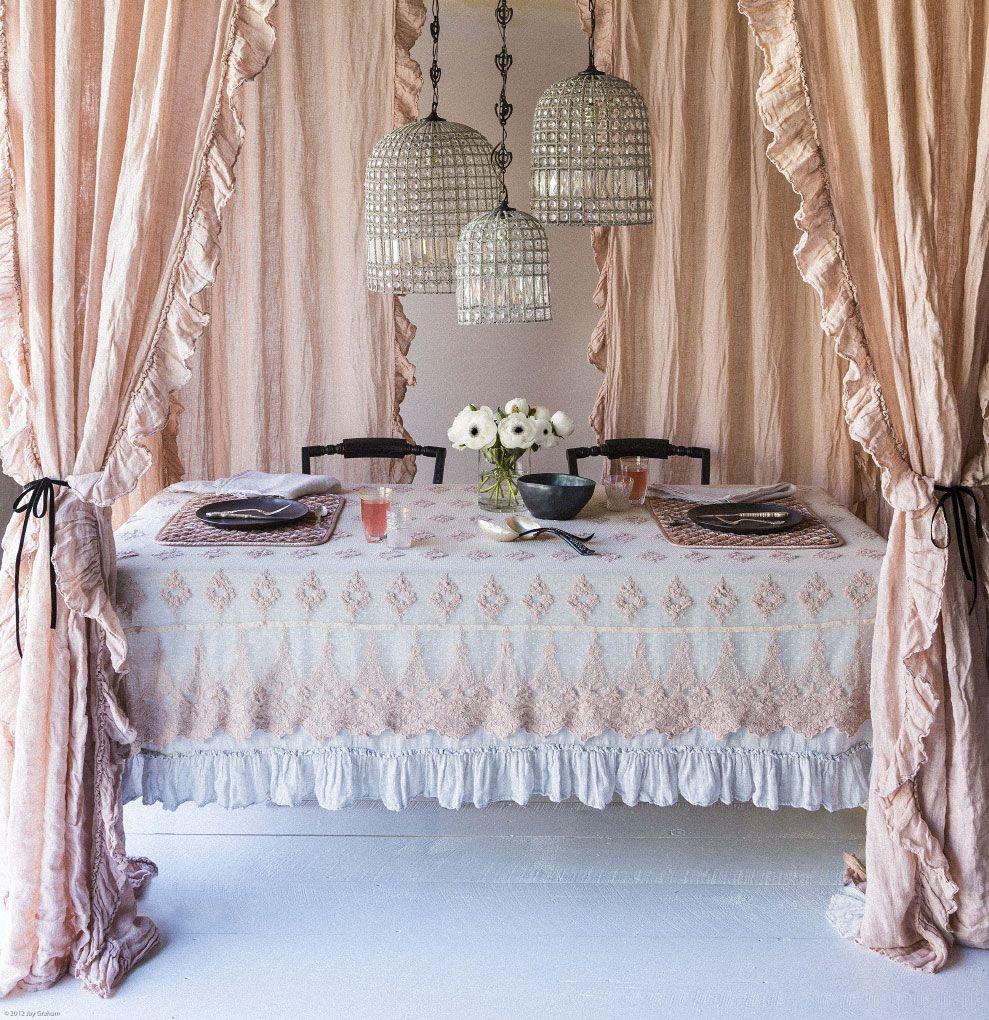 Bella Notte Linens Ruffle curtains, Bedding sets, Home decor