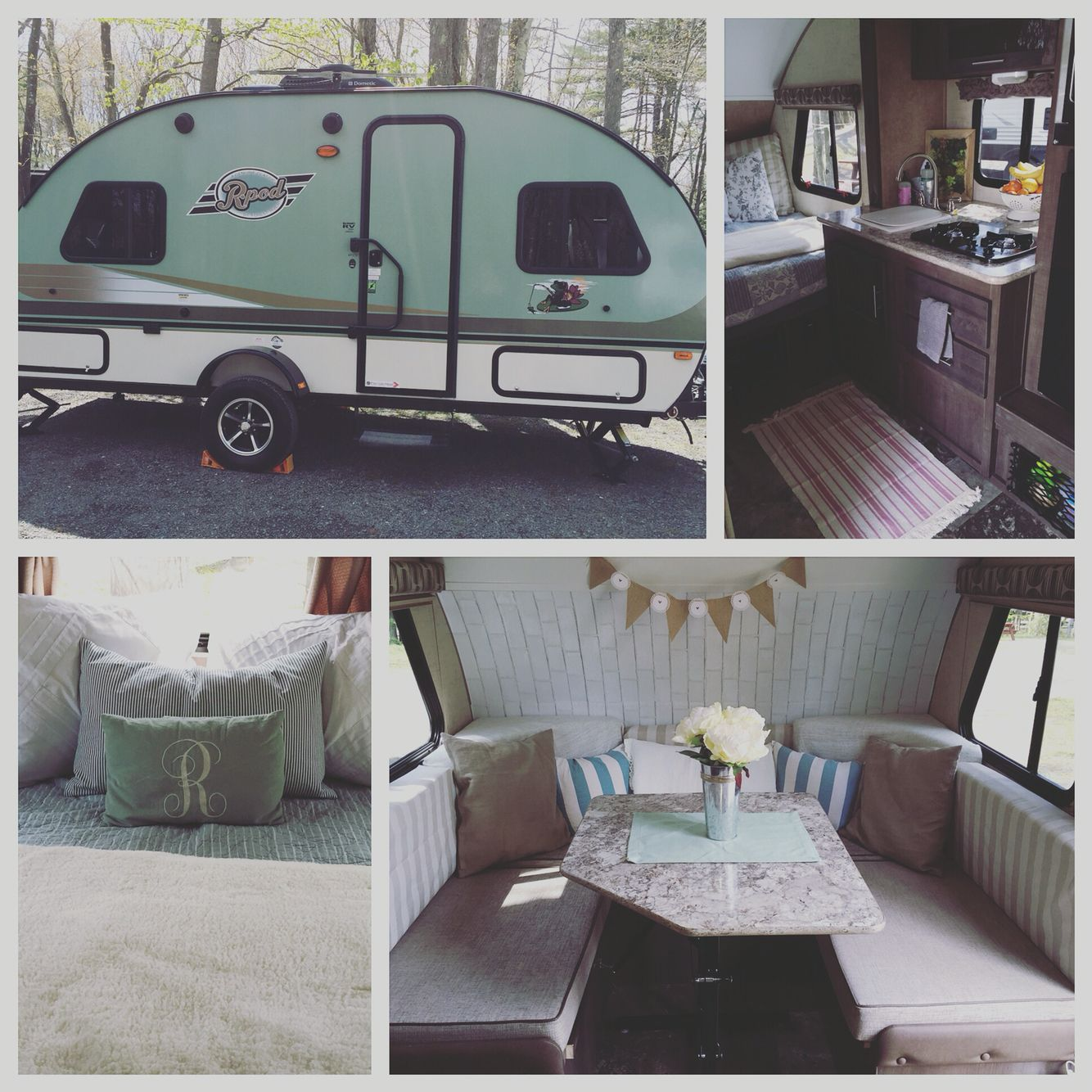 Camper remodel shabby chic r pod