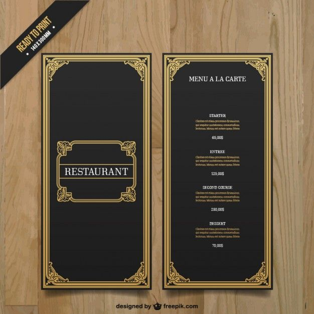 Ornamental menu template vector textures + shapes Pinterest - menu templates free microsoft