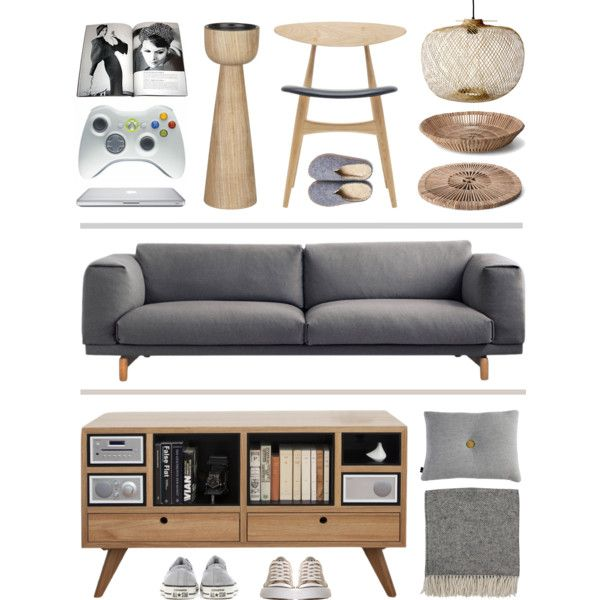 His & Hers Living Room by cally-creates on Polyvore featuring interior, interiors, interior design, home, home decor, interior decorating, Muuto, The Hansen Family, By Nord and Piet Hein Eek