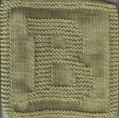 Knitted Letter Cloth - B   Dishcloth knitting patterns ...