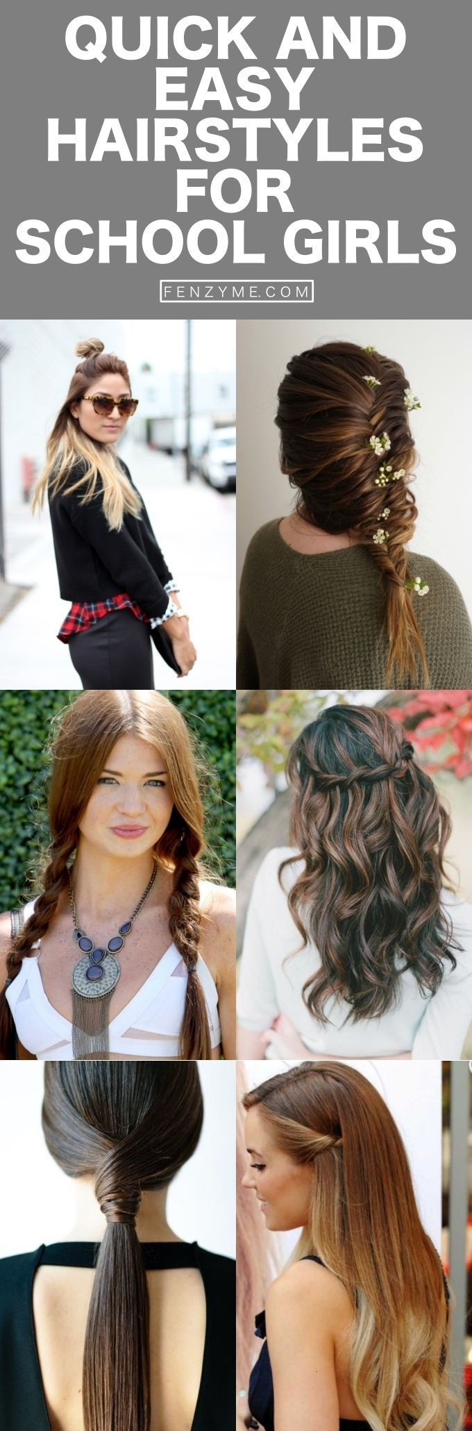 quick and easy hairstyles for school girls  hairstyles