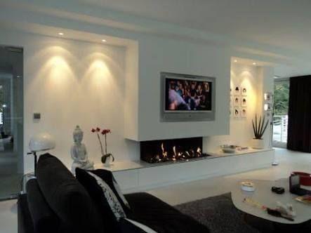 Openhaard In Woonkamer : Tv en open haard in woonkamer pesquisa google wandmeubel kamer