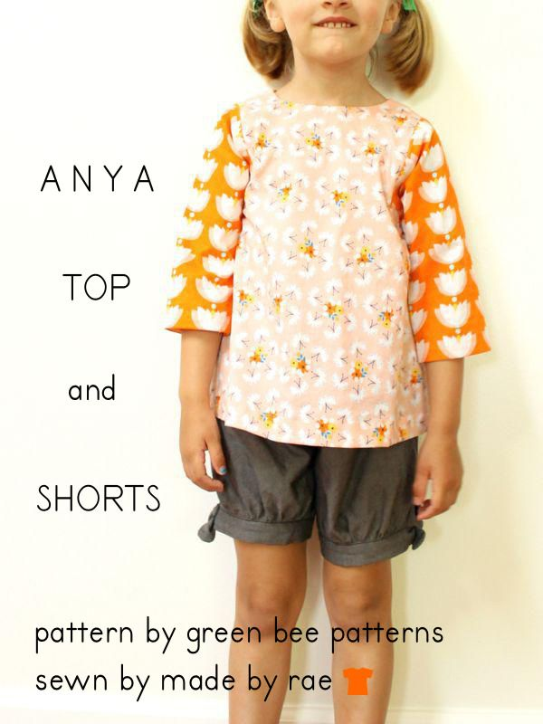 Anya Top and Shorts by Green Bee | Sewing - For Little Ones | Pinterest