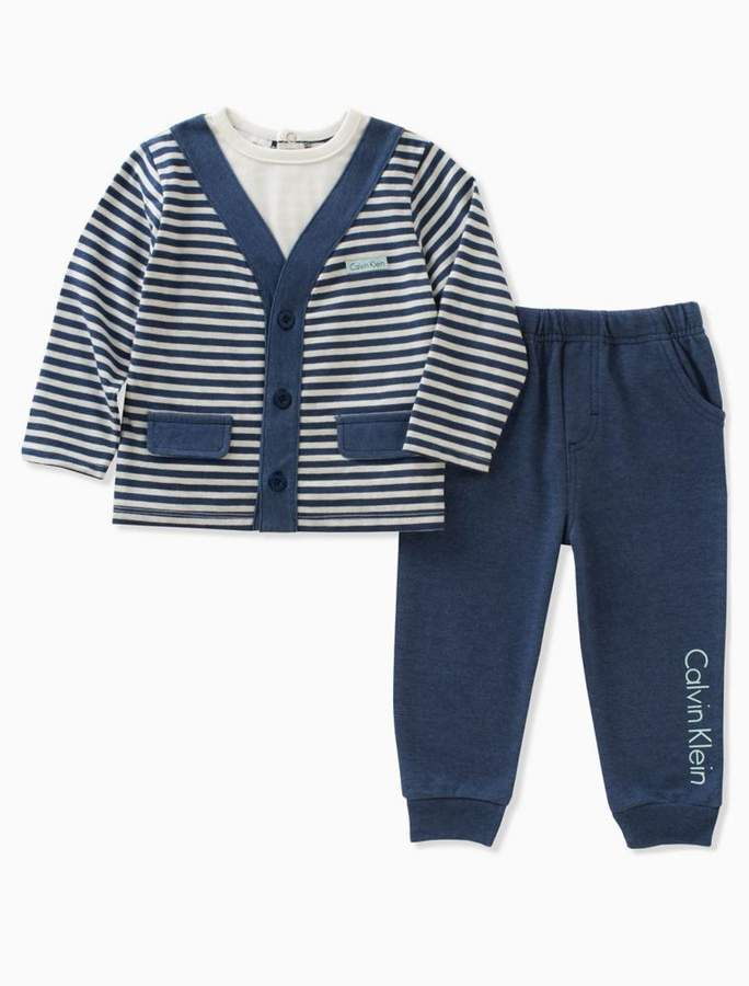 632ea6b45 Boys striped cardigan pants set in 2018