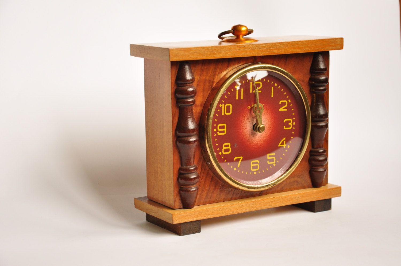 Vintage soviet russian ussr majak mayak mantel clock 70s vintage soviet russian ussr majak mayak mantel clock 70s mechanical wood amipublicfo Images