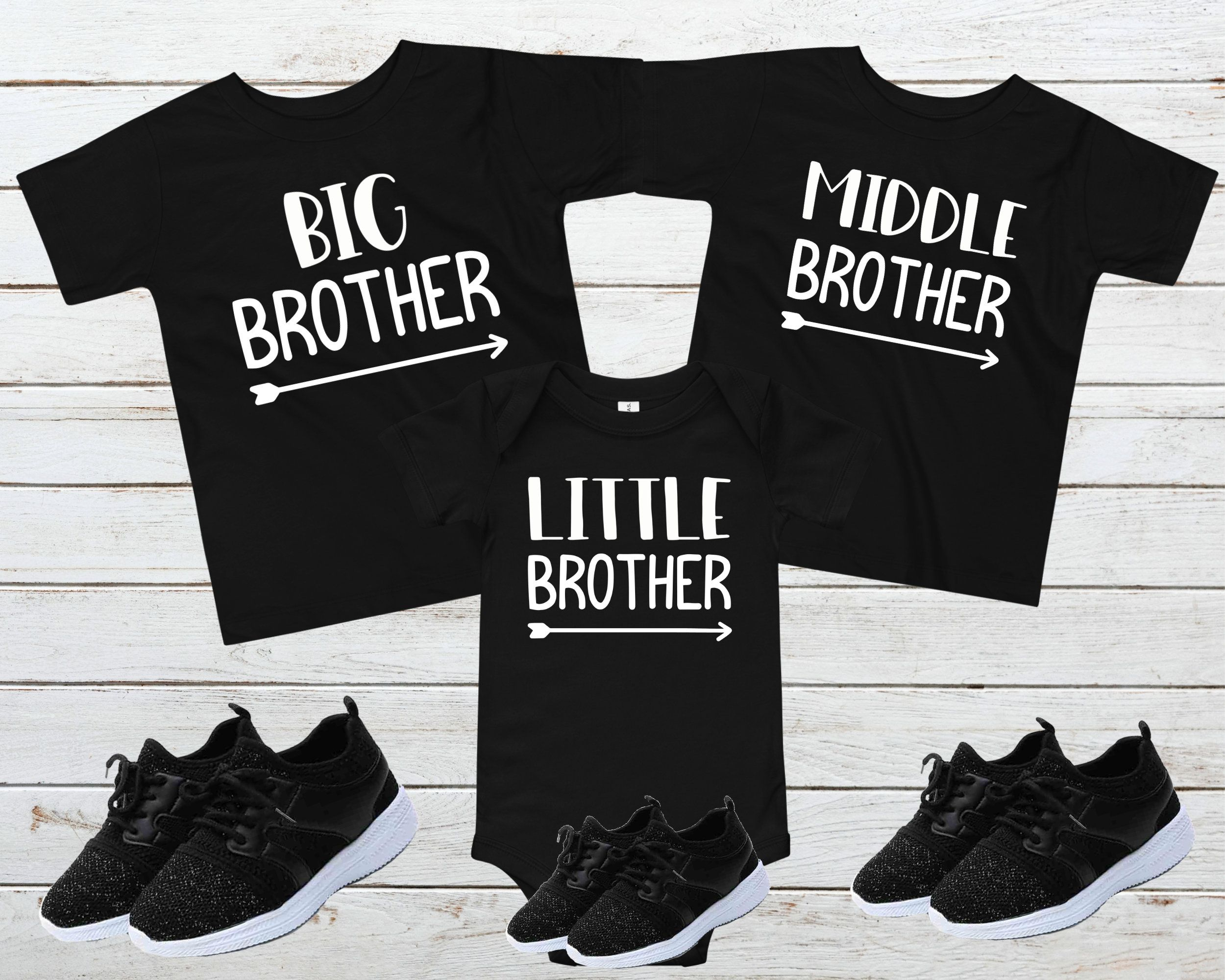Baby Announcement for Boys Little Brother Shirt