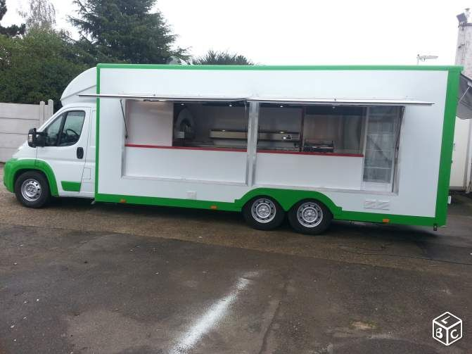 Camion pizza food truck four alfa vasp 30m3 utep sainte for Cuisine 6m de long
