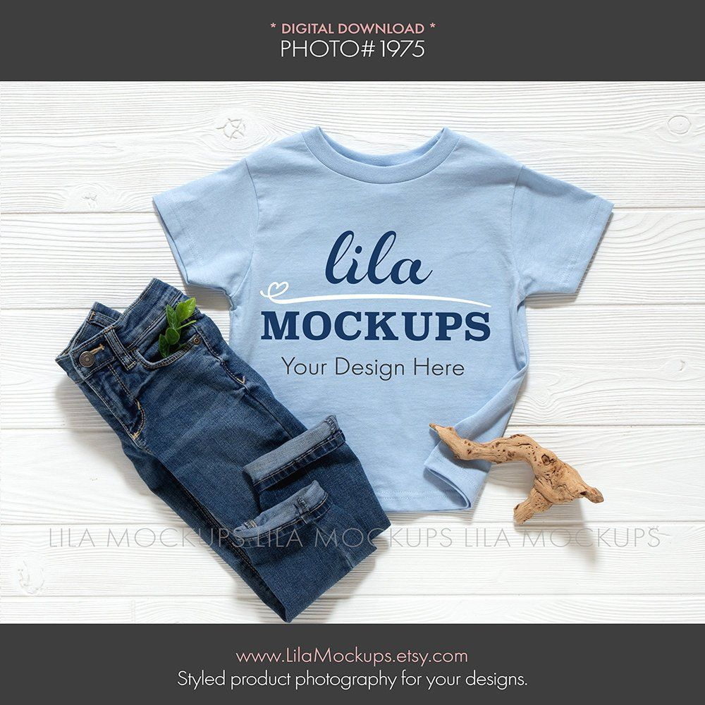 Light Baby Blue Toddler T Shirt Mockup Photo Boy S Tshirt Mock Up