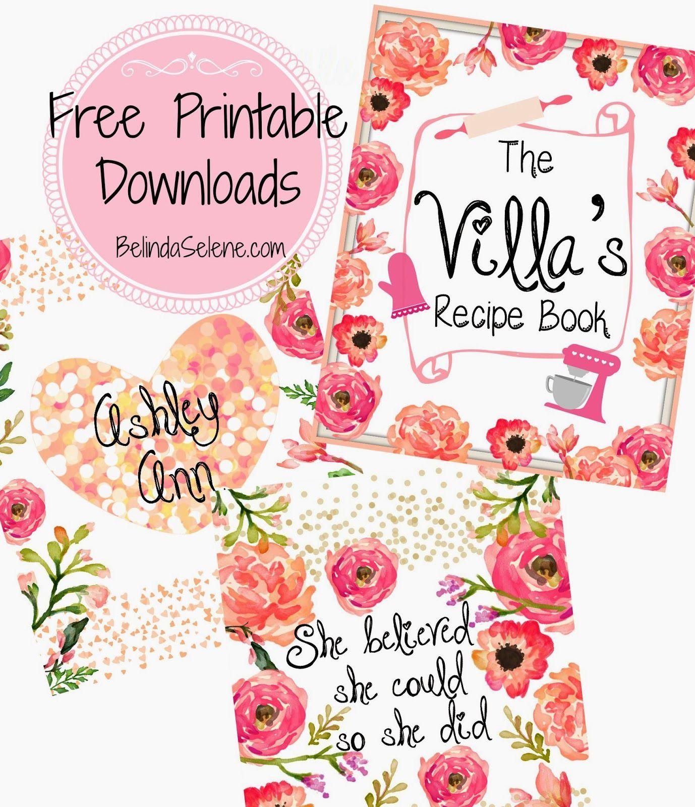 BelindaSelene: Free Gorgeous Printable Covers For Erin Condren Planner, etc | #PlanningWithBelinda