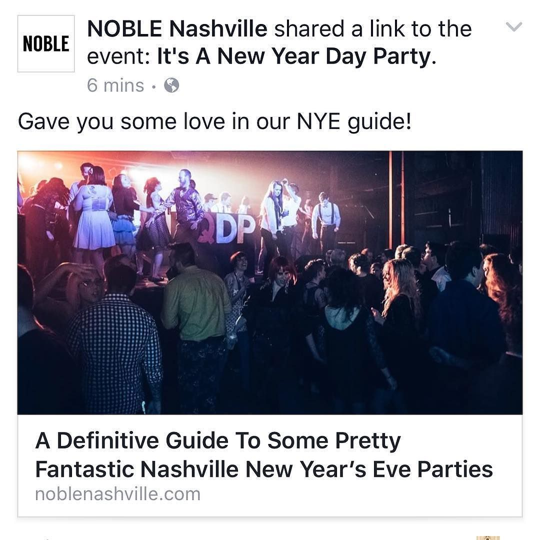 Thx noblenashville! We are listed as one of the events to