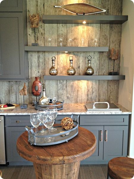 reclaimed wood wall tour of a home like bits and pieces home rh pinterest com