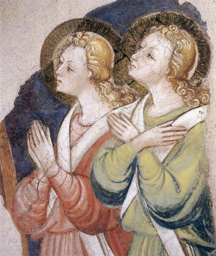 Angels / Ángeles // c. 1447 // Lorenzo di Bicci // Fresco / San Francesco, Arezzo