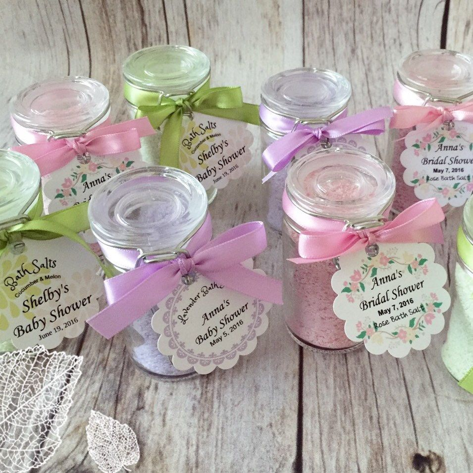 My New Homemade Bath Salt Favors With Glass Jars And