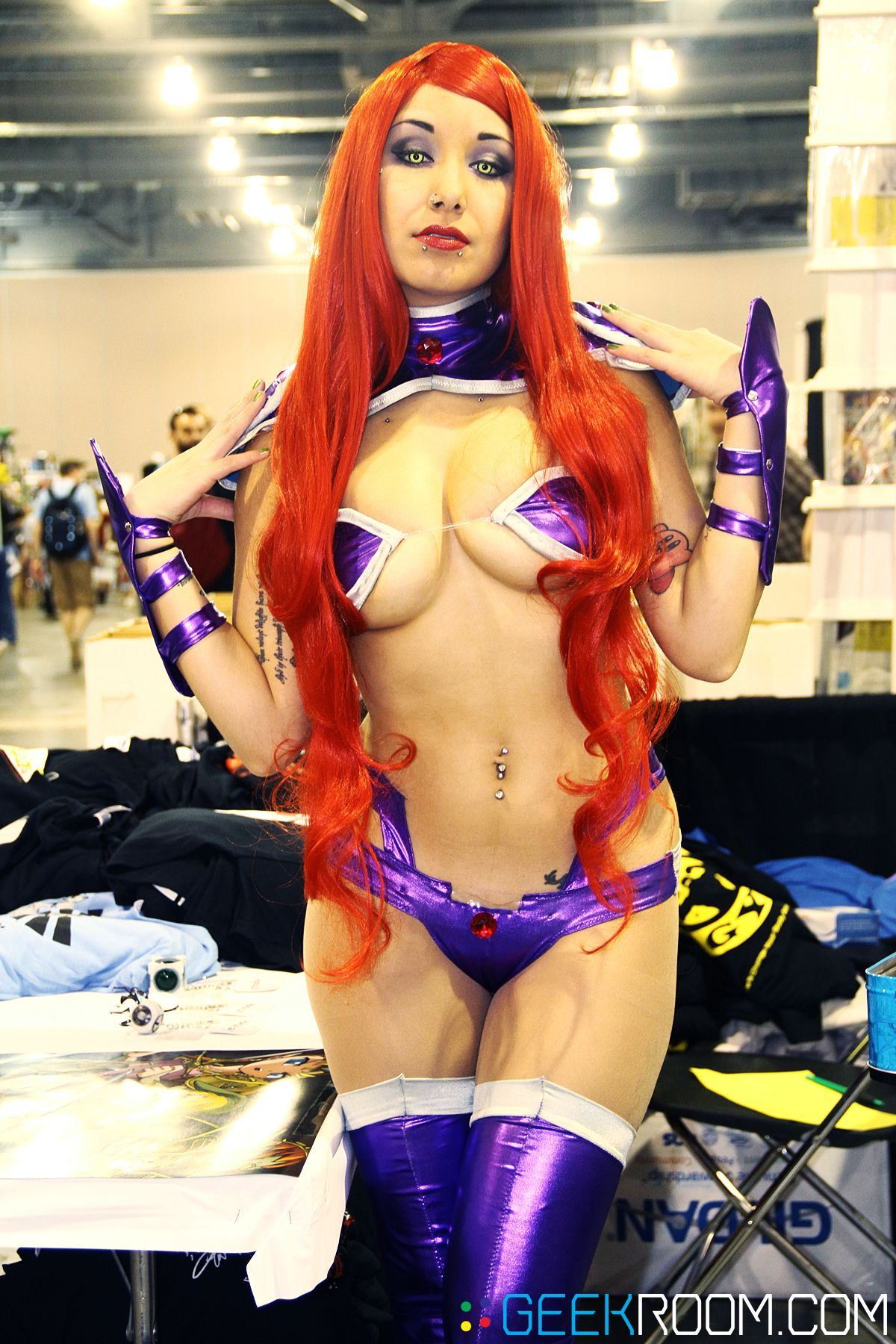 topless girl anime cosplay