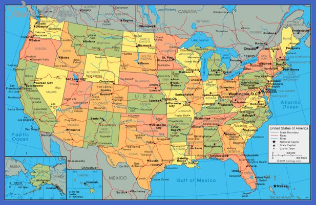 cool United States Map Tourist Attractions Tours Maps