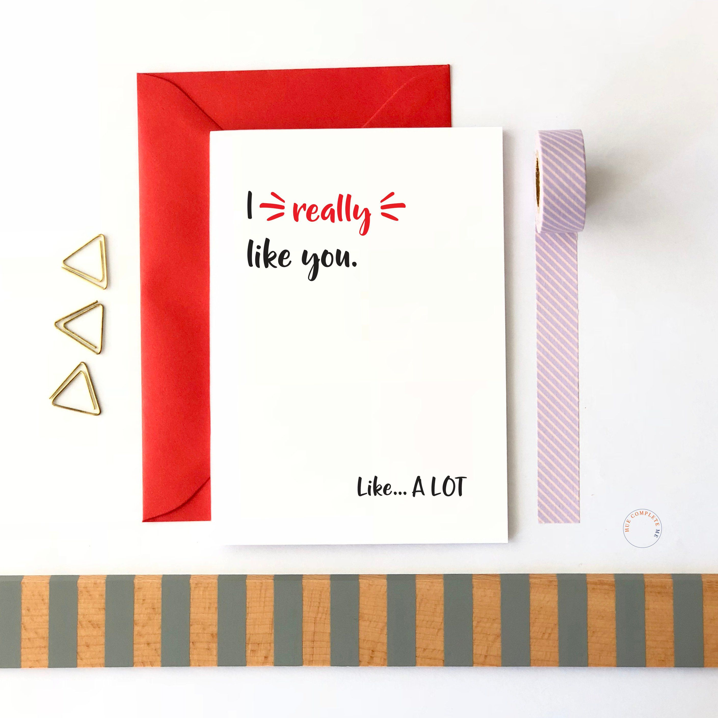 I Really Like You Card New Relationship Card New Couple Card