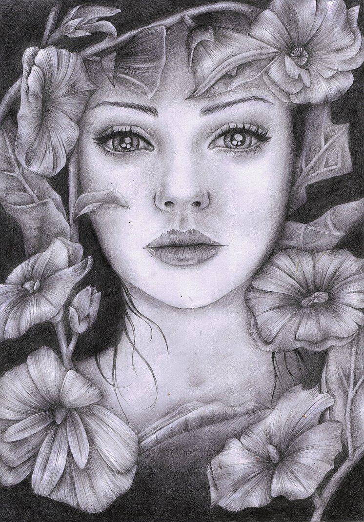 flower womanilikeyourdad on deviantart  grayscale
