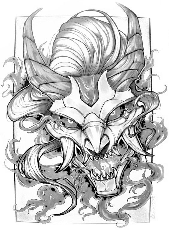 Pin By Brandon Barlow On Makoa Samurai Tattoo Design Japanese Tattoo Art Oni Tattoo