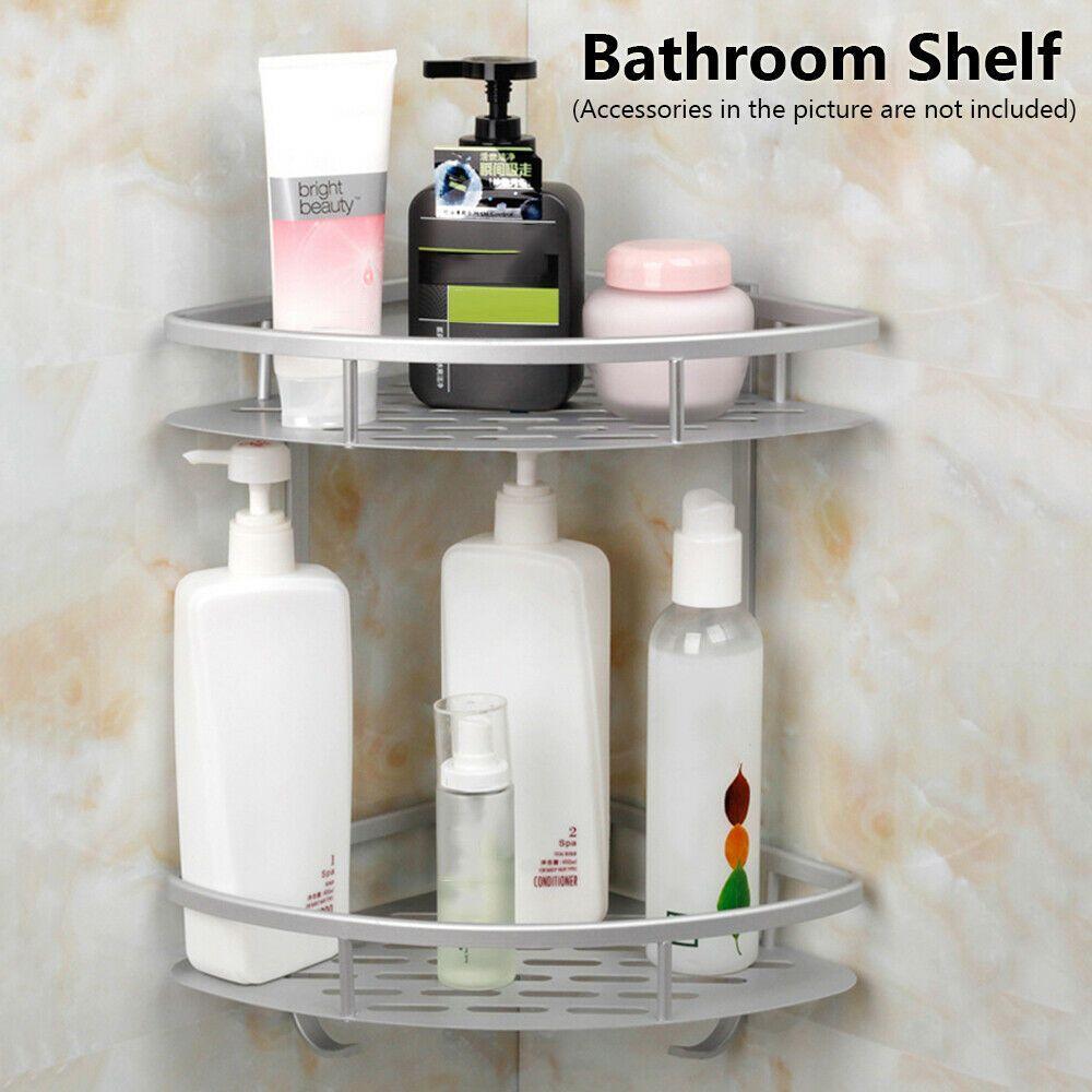 Room Wall Mounted Kitchen Organizer Corner Storage Rack Shampoo Bathroom Shelf Ebay Https Ebay To Bathroom Corner Shelf Shower Rack Bathroom Storage Racks