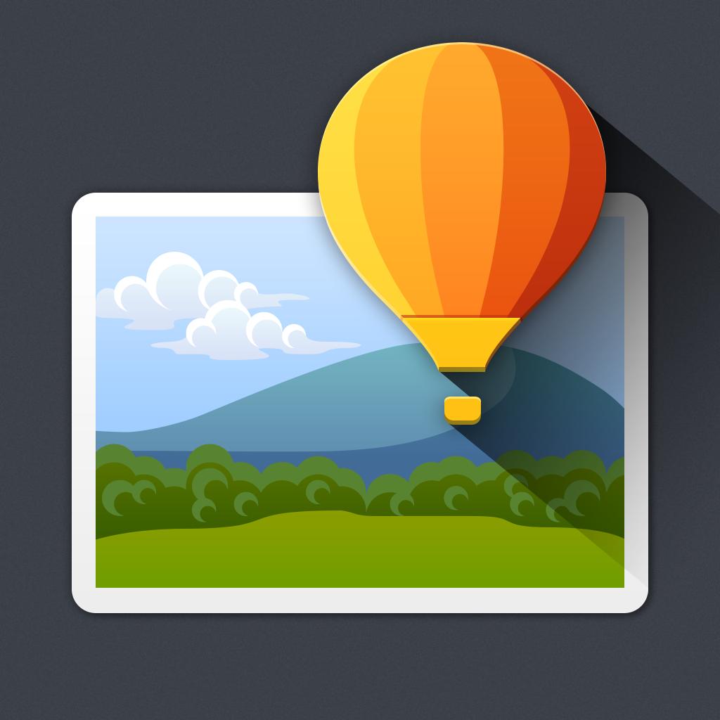 Superimpose1024 Iphone photo editor app, App icon