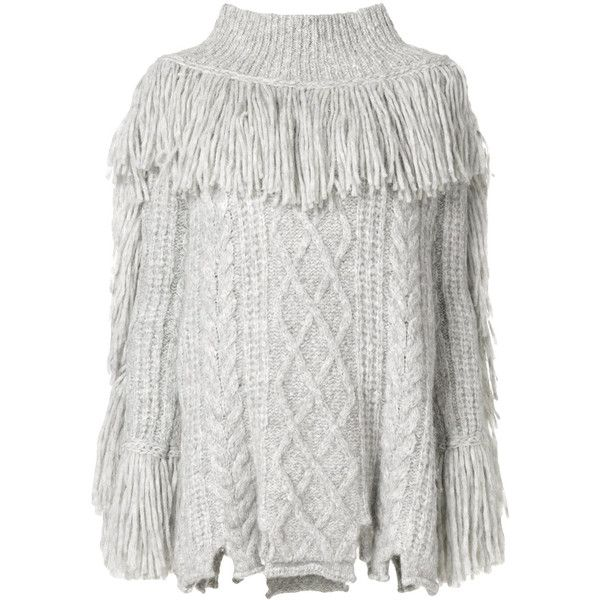 Philosophy Di Lorenzo Serafini fringed roll neck jumper featuring polyvore 5a01d232f
