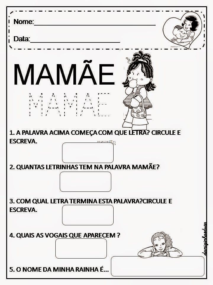 Atividades De Alfabetizacao Dia Das Maes Atividades Do Dia Das