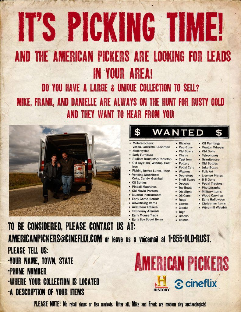 The messenger of juneau county - Juneau County Messenger American Pickers Scheduled To Film In Wisconsin Mike Wolfe Frank Fritz And Their Team Are Excited To Return To Wisconsin