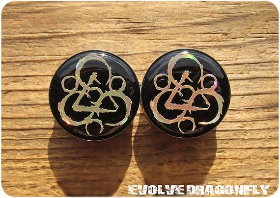 Acrylic Screw-On Brand New *Pair* Water Lily Buddha Ear Plugs 8 Sizes