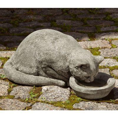 Campania Samantha The Cat Garden Statue In Alpine Stone Garden