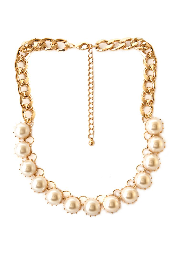 Bulky Faux Pearl Necklace | FOREVER21 - 6,80