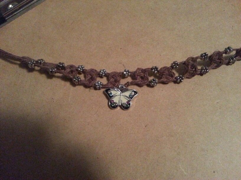 Cute butterfly bracelet I made.