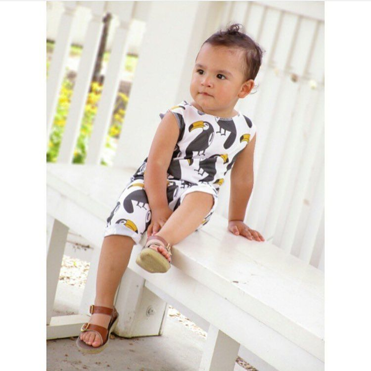 Toucan tank romper - baby fashion -baby style - hipster baby - by ModFox on Etsy